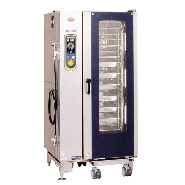 新品:マルゼン 電気式スチームコンベクションオーブン スーパースチーム エクセレントシリーズ 幅875×奥行820×高さ1015(mm) SSCX-20D