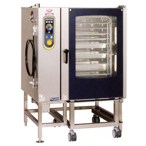 新品:マルゼン 電気式スチームコンベクションオーブン スーパースチーム エクセレントシリーズ 幅1100×奥行1015×高さ1550(mm) SSCX-24D