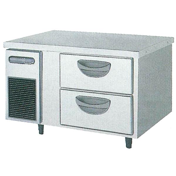 新品:福島工業(フクシマ)横型 ドロワーテーブル冷蔵庫 2段幅900×奥行600×高さ550(mm)TBC-30RM2
