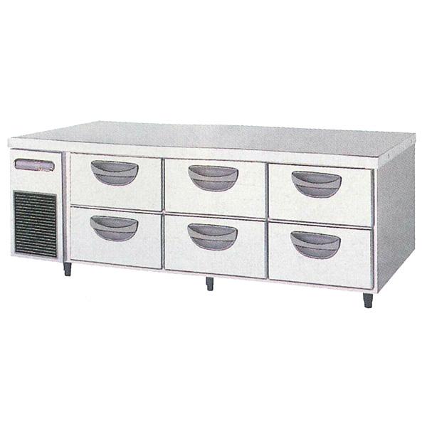 新品:福島工業(フクシマ)横型 ドロワーテーブル冷蔵庫 2段幅1630×奥行750×高さ550(mm)TBW-550RM3