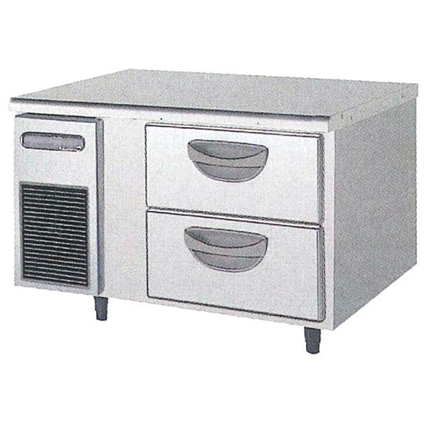 新品:福島工業(フクシマ)横型 ドロワーテーブル冷凍庫 2段幅900×奥行750×高さ550(mm)TBW-32FM3