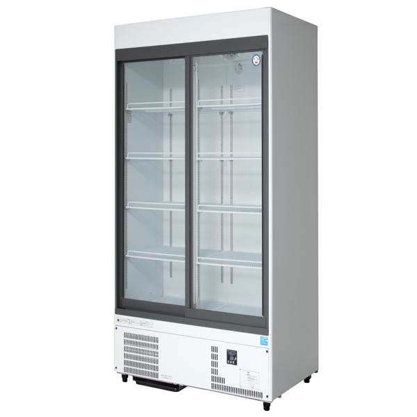 新品 福島工業(フクシマ)リーチイン冷蔵ショーケース スライド扉タイプ 344リットル幅900×奥行450×高さ1900(mm)MSU-090GHWSR