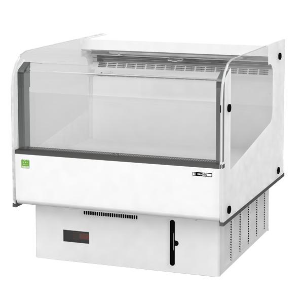 新品 サンデン 催事用冷蔵ショーケース 幅860×奥行910×高さ860(mm)176リットル RSR-3M