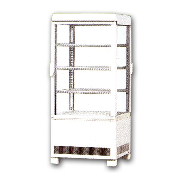 新品:サンデン卓上型冷蔵ショーケース 69リットル幅429×奥行445×高さ953(mm)AG-70XE