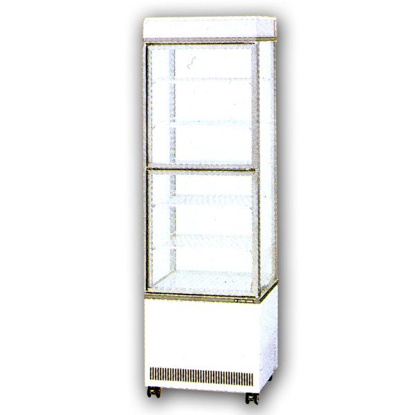 新品:サンデンタテ型4面ガラスショーケース 220リットル幅554×奥行542×高さ1843(mm)AGV-400XB