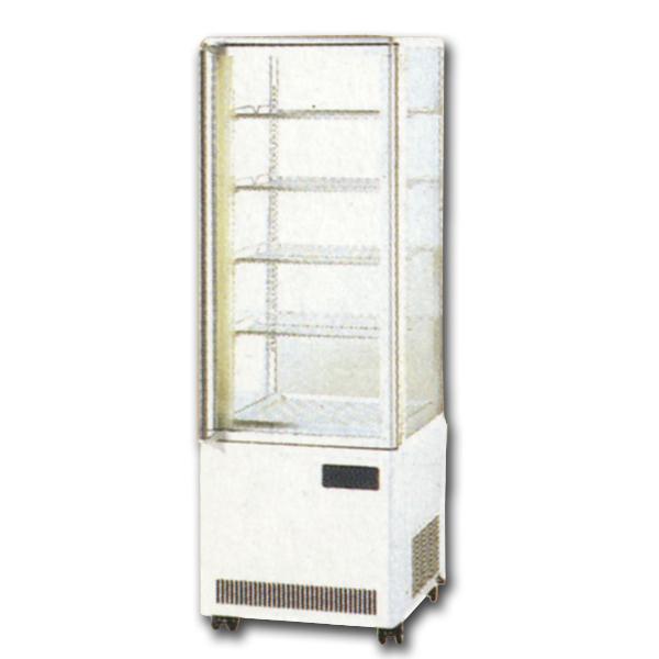 新品 サンデンタテ型4面ガラスショーケース 152リットル幅500×奥行535×高さ1625(mm)AGR-270X