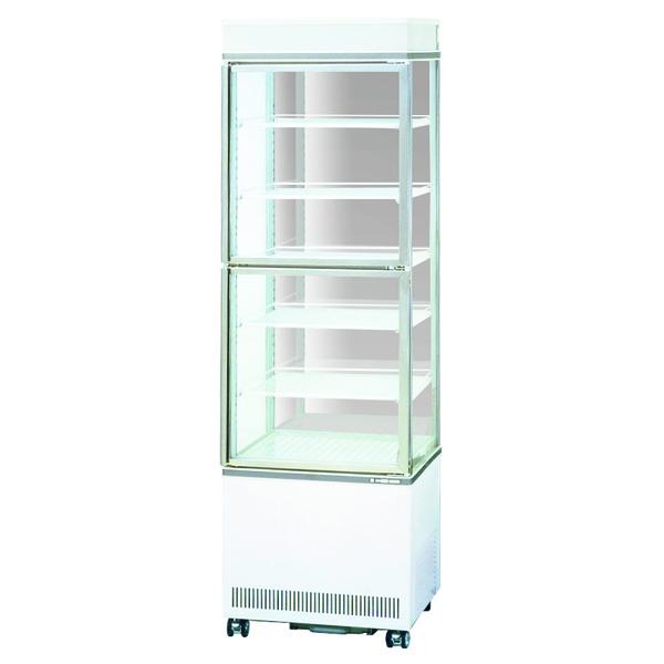 新品:サンデンタテ型4面ガラスショーケース 220リットル幅554×奥行583×高さ1843(mm)AGV-B400XB