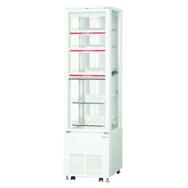新品 サンデン 業務用 タテ型4面ガラス冷蔵・温蔵ショーケース幅500×奥行600×高さ1845(mm) 167リットル SPAS-H532X