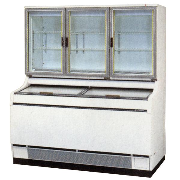 新品:サンデン 冷凍ショーケース(デュアルタイプ) 1500×867×1723 472リットル GSR-D1503ZC