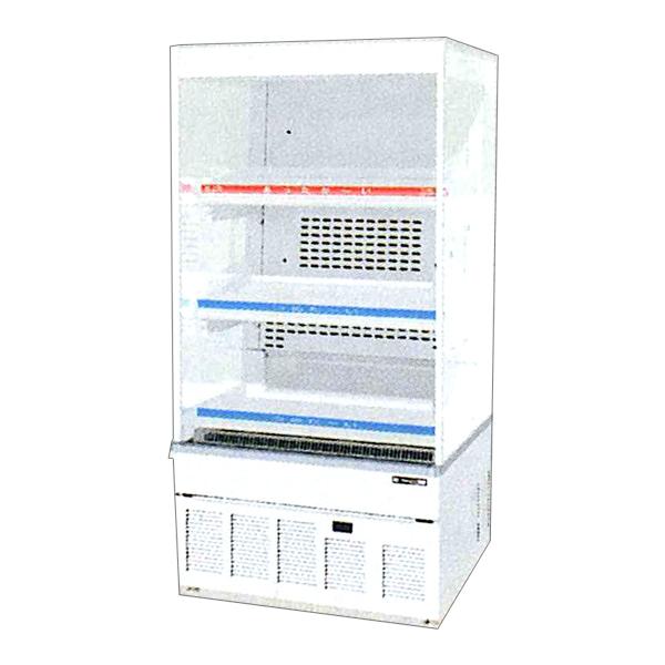 新品 サンデン 冷蔵ショーケースHOT&COLD ノンフロン オープンンタイプ幅650×奥行600×高さ1298(mm) 127リットルRSG-H650LMB