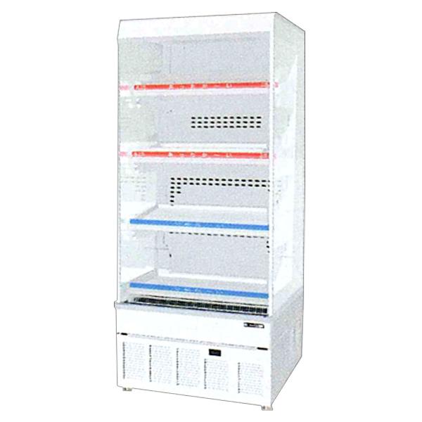 新品:サンデン 冷蔵ショーケースHOT&COLD ノンフロン オープンンタイプ幅650×奥行600×高さ1498(mm) 155リットルRSG-H650MB