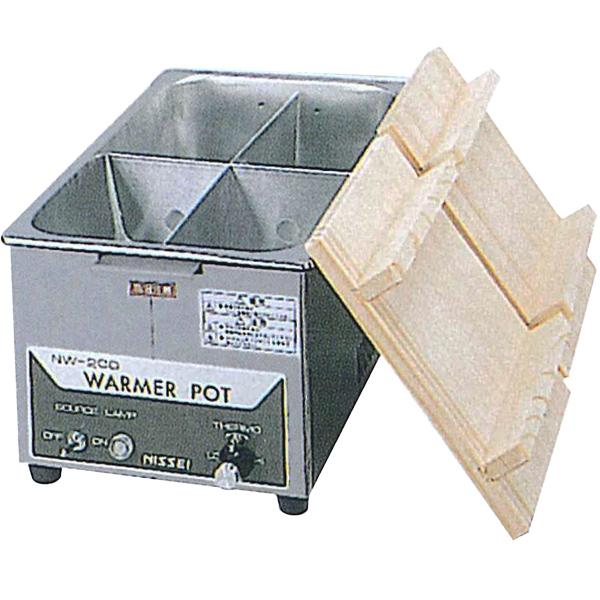 新品:ニッセイ(アンナカ) 電気 おでん鍋 NW-201H (4ツ切)木蓋付き幅250×奥行415×高さ190(mm)【 おでん鍋 電気 】【 おでん鍋業務用 】