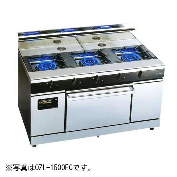 新品:オザキ ガスレンジ ワイドレシーバーシリーズ幅900mm 2口コンロ+1オーブン OZM-900CV