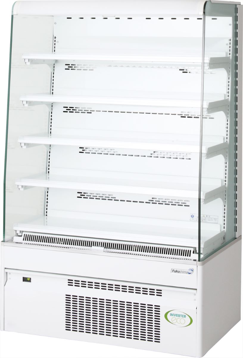 新品:フクシマオープンショーケース900幅x550奥x1400高さ(mm) MET-31GDSS4S