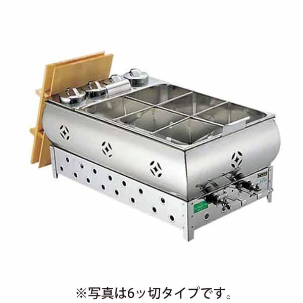 新品:江部松商事(EBM) ガス燗付おでん鍋 4ッ切マッチ点火