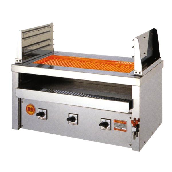 新品 ヒゴグリラー 電気式焼物器(グリラー) 二刀流タイプ卓上型 幅890×奥行550×高さ450(mm)3H-215YC
