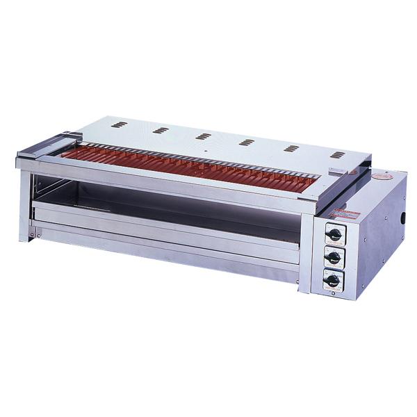 新品:ヒゴグリラー電気式焼物器(グリラー) 二刀流タイプ卓上型幅1180×奥行600×高さ300(mm)3H-212YCW
