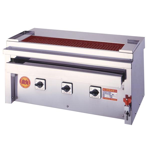 新品:ヒゴグリラー電気式焼鳥焼器(大串) 卓上型幅760×奥行410×高さ390(mm)3P-207XC