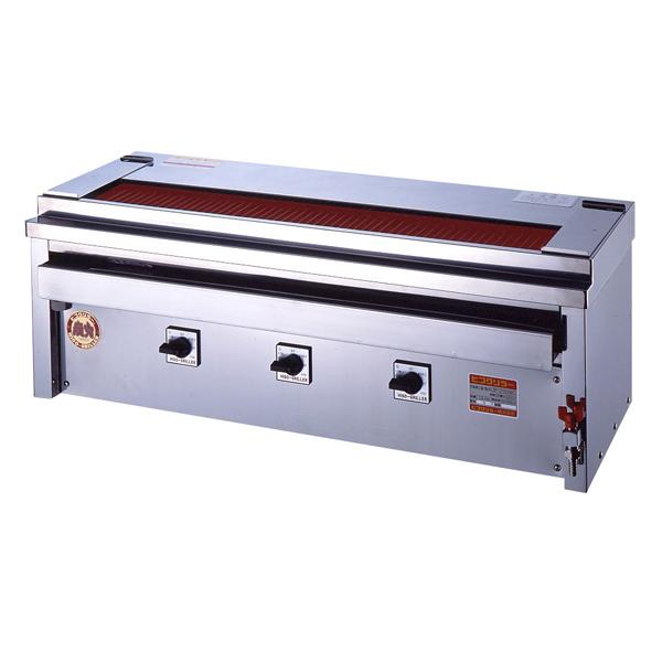 新品:ヒゴグリラー電気式焼鳥焼器(大串) 卓上型幅1060×奥行410×高さ390(mm)3P-212XWC