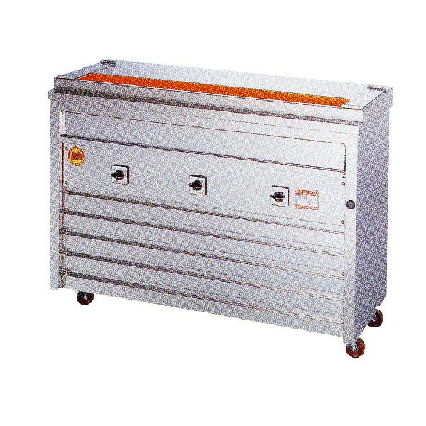 新品 ヒゴグリラー電気式焼鳥焼器 床置型幅1160×奥行410×高さ850(mm)3P-210K