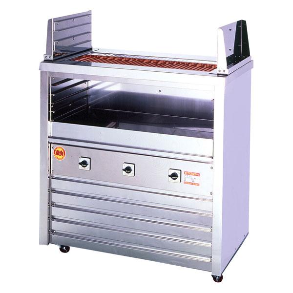 新品:ヒゴグリラー 電気式焼物器(グリラー) 二刀流タイプ床置型幅1020×奥行550×高さ1000(mm) 3H-218