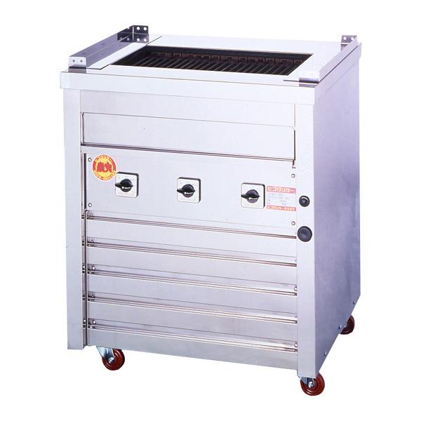新品:ヒゴグリラー電気式焼物器(グリラー) 万能タイプ床置型幅720×奥行550×高さ850(mm)3P-210
