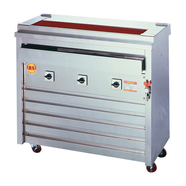 新品 ヒゴグリラー電気式焼鳥焼器(大串) 床置型幅910×奥行410×高さ850(mm)3P-210X