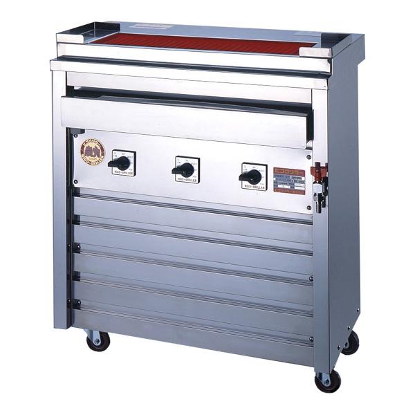 新品:ヒゴグリラー電気式焼鳥焼器(大串) 床置型幅760×奥行450×高さ850(mm)3P-210D