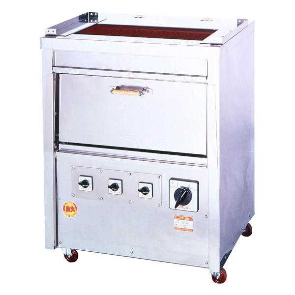 新品:ヒゴグリラー電気式焼物器(グリラー) オーブン付きタイプ幅820×奥行650×高さ1040(mm)GO-12