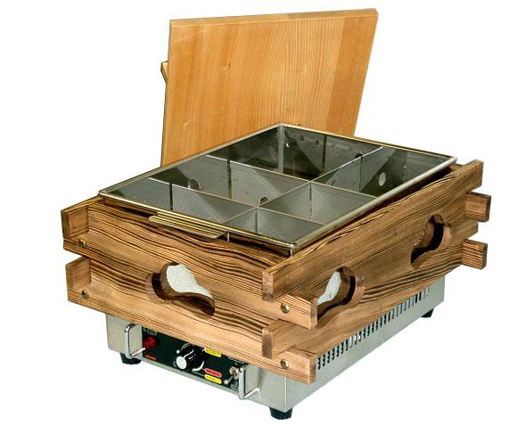 新品:エイシン電気おでん鍋(サーモ式)幅370×奥行470×高さ279(mm)CVS-6S(6ツ切)