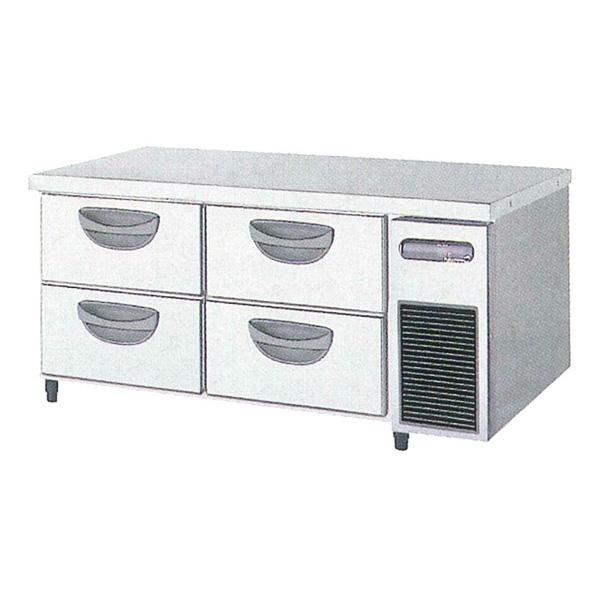 新品 福島工業(フクシマ)横型 ドロワーテーブル冷蔵庫 2段 ユニット右置き仕様幅1200×奥行600×高さ550(mm)TBC-40RM3-R