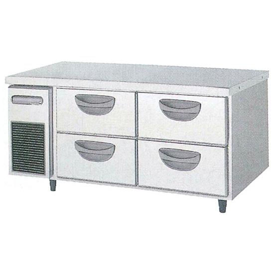 新品 福島工業(フクシマ)横型 ドロワーテーブル冷蔵庫 2段幅1200×奥行600×高さ550(mm)TBC-40RM3