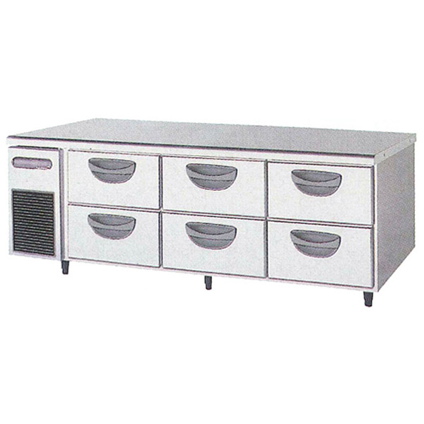 新品 福島工業(フクシマ)横型 ドロワーテーブル冷凍庫 2段幅1630×奥行600×高さ550(mm)TBC-556FM3