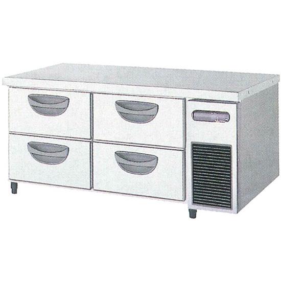 新品 福島工業(フクシマ)横型 ドロワーテーブル冷蔵庫 2段 ユニット右置き仕様幅1200×奥行750×高さ550(mm)TBW-40RM3-R