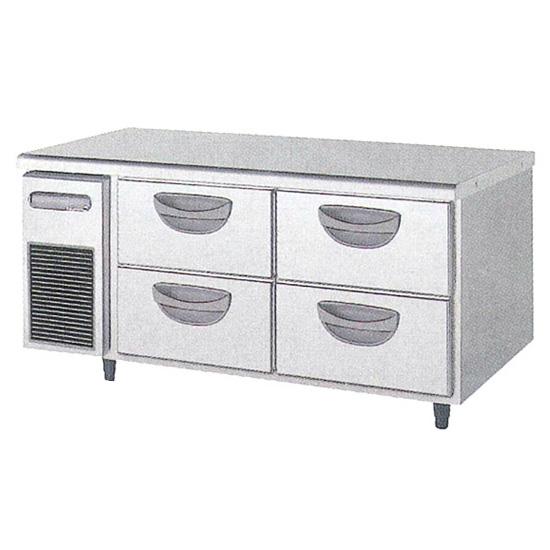 新品 福島工業(フクシマ)横型 ドロワーテーブル冷凍庫 2段幅1200×奥行750×高さ550(mm)TBW-44FM3