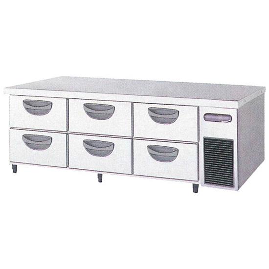 新品 福島工業(フクシマ)横型 ドロワーテーブル冷蔵庫 2段 ユニット右置き仕様幅1630×奥行750×高さ550(mm)TBW-550RM3-R