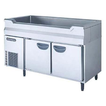 新品 福島工業(フクシマ)横型 舟形シンク付きコールドテーブル冷蔵庫幅1200×奥行600×高さ800(mm)TNC-40RM3-SC