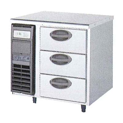 新品 福島工業(フクシマ)横型 ドロワーテーブル冷蔵庫 3段幅755×奥行600×高さ800(mm)YDC-080RM2