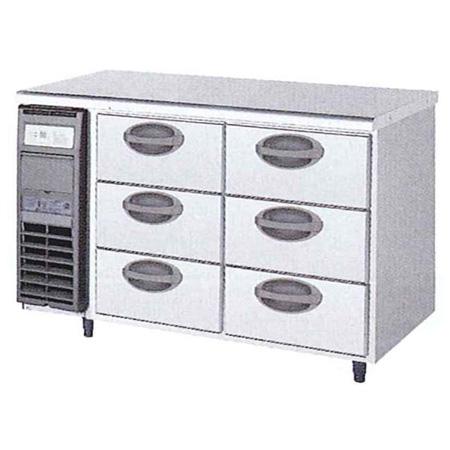 新品 福島工業(フクシマ)横型 ドロワーテーブル冷蔵庫 3段幅1200×奥行600×高さ800(mm)YDC-120RM2