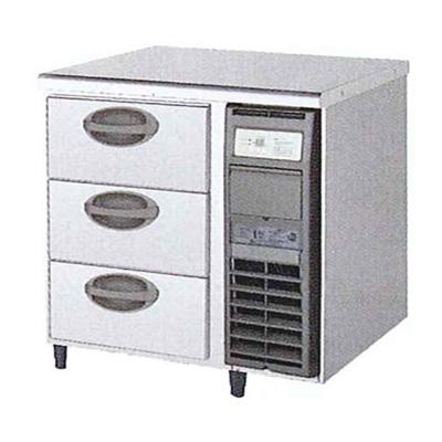 新品 福島工業(フクシマ)横型 ドロワーテーブル冷蔵庫 3段 ユニット右置き仕様幅755×奥行750×高さ800(mm)YDW-080RM2-R
