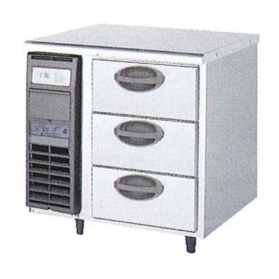 新品 福島工業(フクシマ)横型 ドロワーテーブル冷凍庫 3段幅755×奥行750×高さ800(mm)YDW-083FM2