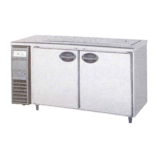新品 福島工業(フクシマ)横型 サンドイッチテーブル冷蔵庫幅1500×奥行600×高さ810(mm)YSC-150RE2-B