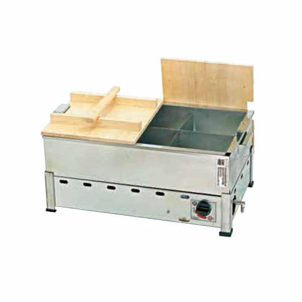 新品:カネイ 湯煎式ガスおでん鍋6ッ切 KOT-1-L