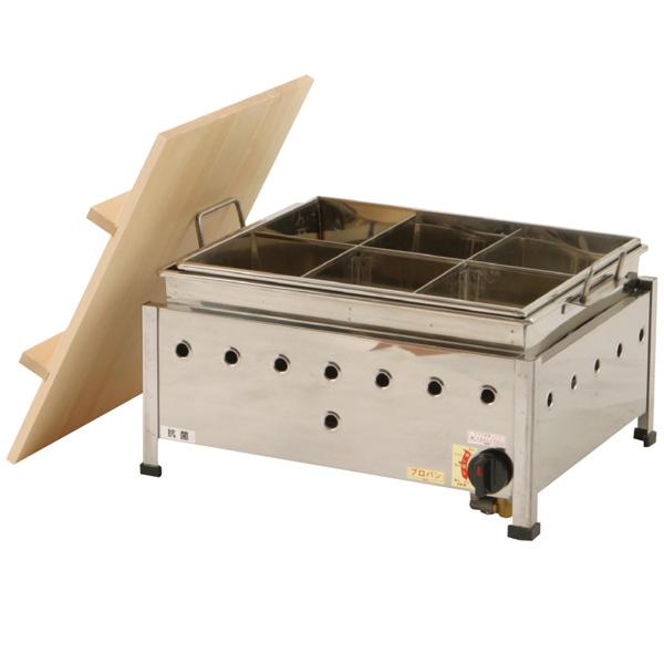新品:伊東金属 おでん鍋 湯煎式 自動点火 OA15SWI 6仕切【 おでん鍋業務用 】【 送料無料 】