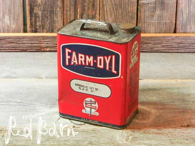 【税抜合計6000円以上お買い上げで20%OFF】ヴィンテージ UAS オイル缶 FARM-OYL【再入荷3回目】