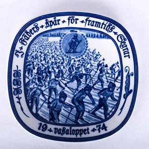 Rorstrand/ロールストランド VASALOPPET PLATE 1974/ヴァーサロペット記念プレート 1974年【Antique/アンティーク】【北欧】【送料無料】