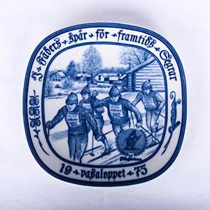 Rorstrand/ロールストランド VASALOPPET PLATE 1975/ヴァーサロペット記念プレート 1975年【Antique/アンティーク】【北欧】【送料無料】
