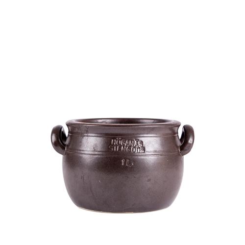 ホガナスジャー1L ダークブラウンHoganas Jar 1L 【Antique】【アンティーク】【北欧雑貨】【小物入れ】 【壺】【送料無料】