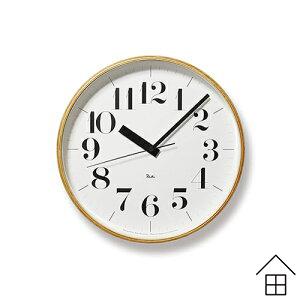 レムノス リキクロック 25.4cm (WR07-11 Lemnos レムノス Riki Clock 掛け時計 電波時計 インテリア 北欧雑貨 オブジェ グッドデザイン賞 渡辺力 送料無料)
