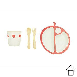 MELA りんご食器セット / Mastro Geppetto PAPPA Series【マストロ・ジェッペット】【ベビー食器】【ベビー食器セット】【日本製】【エコ】【オーガニック】【出産祝い】【ランチプレート】【送料無料】